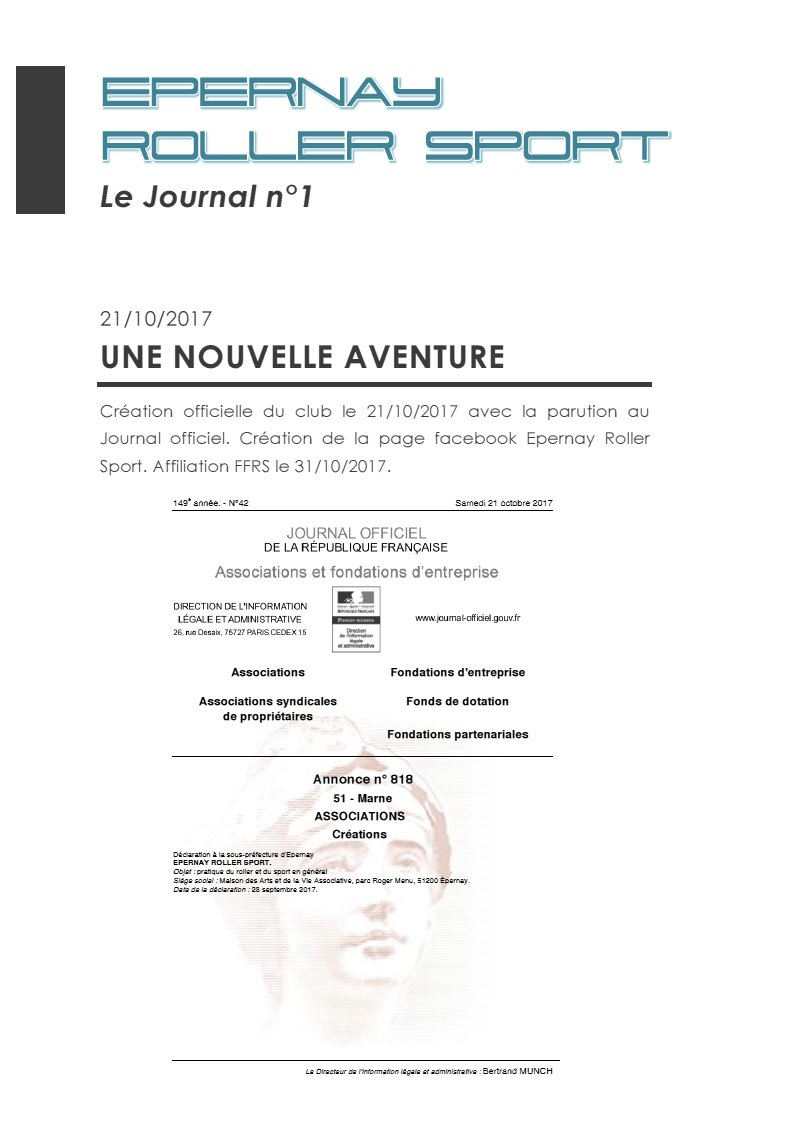 Le Journal ERS n°1