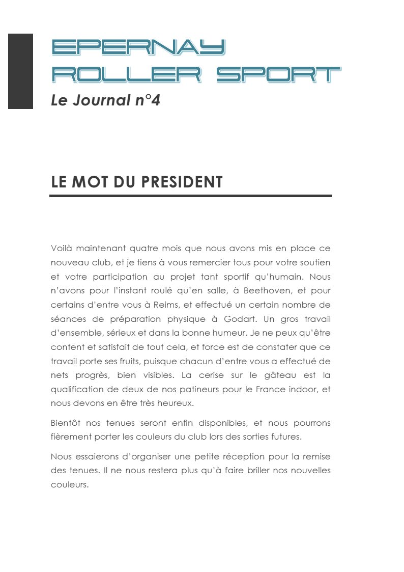 Le Journal ERS n°4